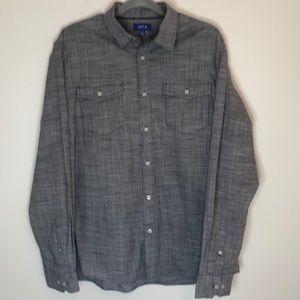 Apt 9 Mens Button Down Long Sleeve Shirt SZ XL